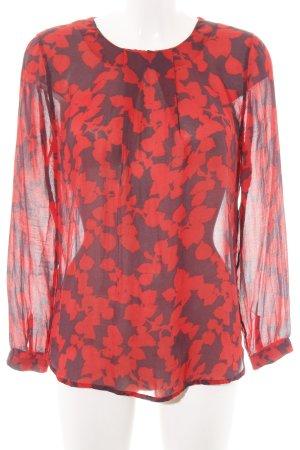 Custommade Transparent Blouse red-black graphic pattern elegant
