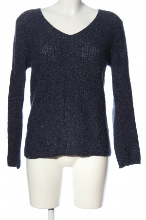 Custommade V-Neck Sweater blue casual look