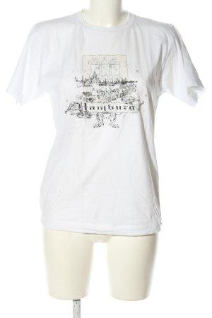 Cut for Friends Print-Shirt weiß-schwarz Motivdruck Casual-Look