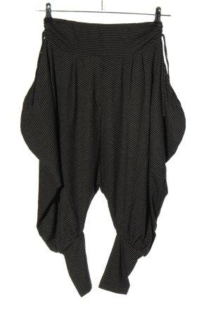 Cut Loose Baggy Pants light grey-black striped pattern casual look
