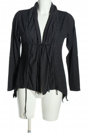 Cut Loose Cardigan black-light grey striped pattern casual look