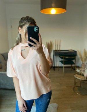 Cut Out Bluse Rosa gr L