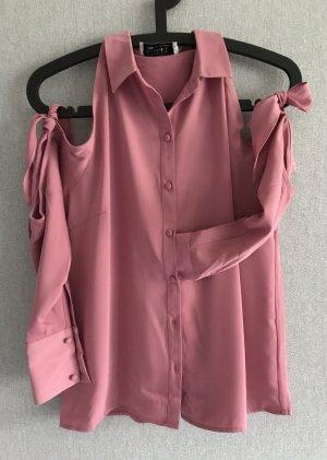 Cut out Bluse, roségold Größe 36