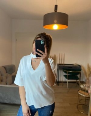 Boutique Comtesse Short Sleeved Blouse white