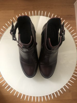 Cut Out Boots | Absatz | Bordeaux