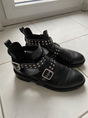 devided Cut out boots zwart-zilver