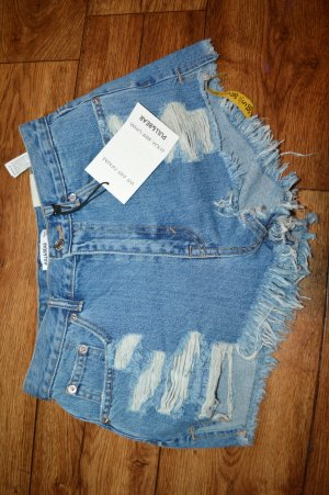 Cut Out Hot Pants Jeans Gr. 36 von PULL&BEAR