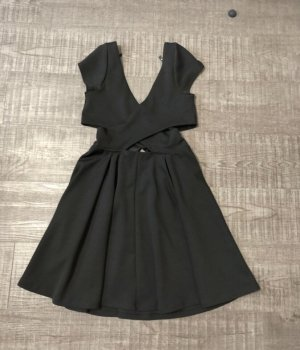 Asos Vestido cut out negro