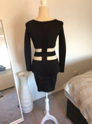 Amisu Cut out jurk zwart