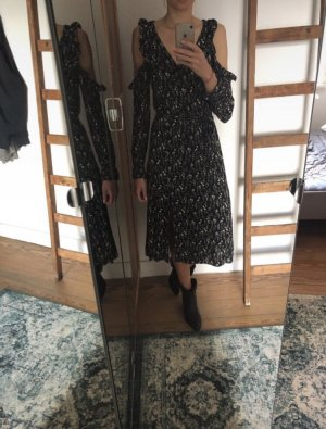 Edited Vestido cut out azul oscuro-negro