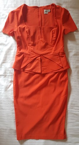 Asos Cut out jurk donker oranje Viscose