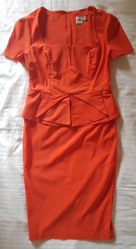 Asos Cut Out Dress dark orange viscose