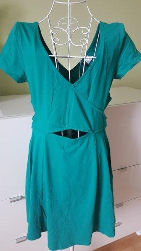 Cut-Out-Kleid in Seegrün // Gr. 40