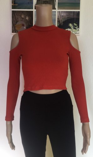 H&M Divided Cut out top roodbruin