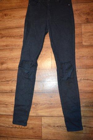 Cut Out Röhrenjeans in schwarz von DR Denim Jeans