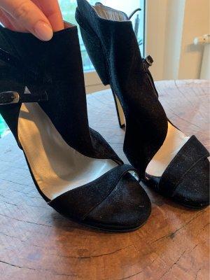 Alba Moda Sandalias de tacón de tiras negro