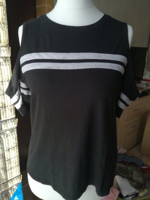 FB Sister Cut Out Top white-black