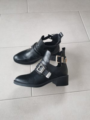 Lucky Shoes Stivaletto cut out nero-argento