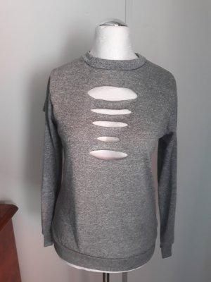Felpa grigio chiaro-grigio