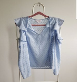 Miss Selfridge Top cut out azul celeste
