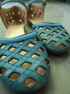 Martin Natur Comfortabele sandalen neon blauw-azuur
