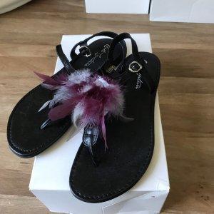 Cute Couture Sandalo toe-post nero