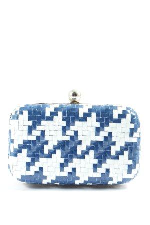 Cute Couture Clutch blue-white check pattern elegant