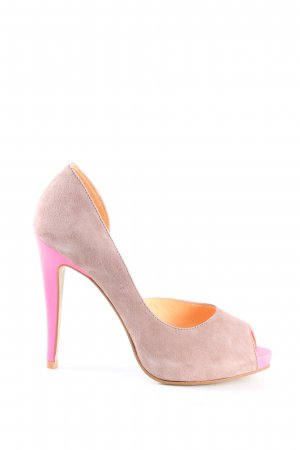 Cute Couture Peep Toe Pumps pink business style