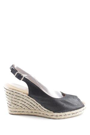 Cute Couture Plateau-Sandaletten schwarz-wollweiß Casual-Look