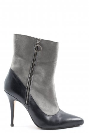 Cute Couture Zipper Booties black-light grey casual look