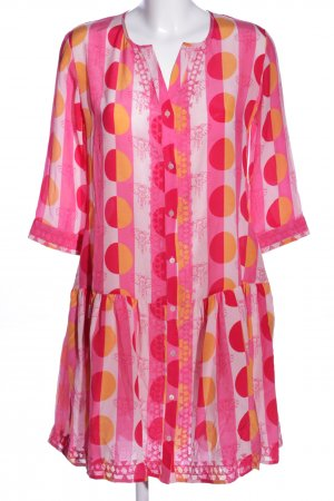 Cute Stuff Blusenkleid pink-weiß Allover-Druck Business-Look
