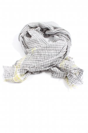 Cute Stuff Fringed Scarf white-light grey allover print casual look