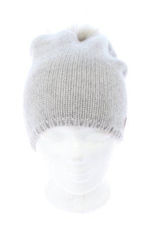 Cute Stuff Wełniana czapka jasnoszary Melanżowy W stylu casual
