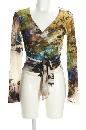 CutLoose Kopertowa bluzka Abstrakcyjny wzór W stylu casual