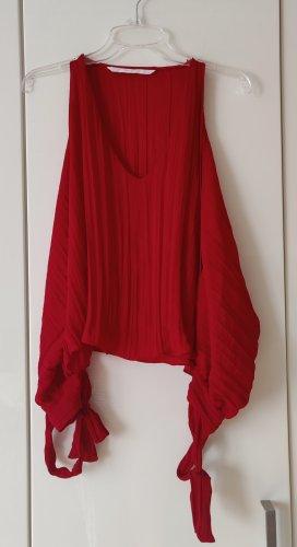 Zara Silk Blouse red