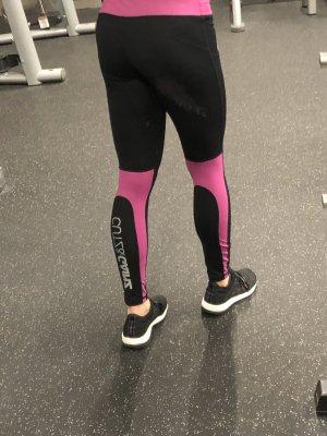 CUTZ & GAINZ Sport leggings tights Gr. S 36 schwarz Pink Logo