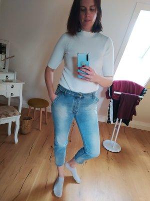 Cycle Jeansy typu boyfriend błękitny