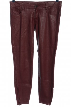 Cycle Faux Leather Trousers red casual look
