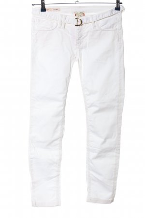 Cycle Drainpipe Trousers white casual look