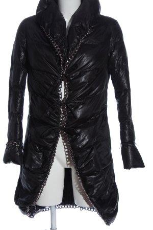 Cycle Between-Seasons Jacket black quilting pattern casual look