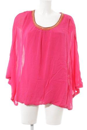 Cyell Tunikabluse pink Paillettenverzierung