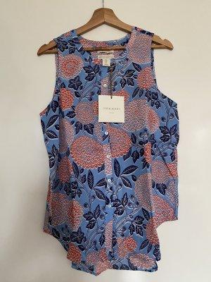 Cynthia Rowley 100% Leinen Blumen Tank Bluse Größe M