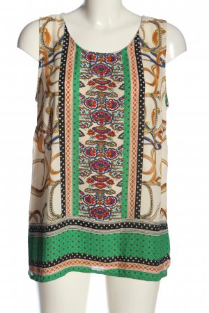 Cynthia Rowley Sleeveless Blouse abstract pattern casual look
