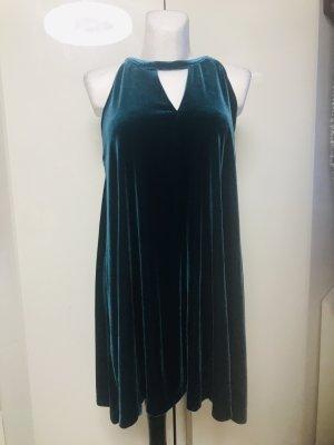 Cynthia Rowley Damen Samt Kleid Petrol Neu Gr L