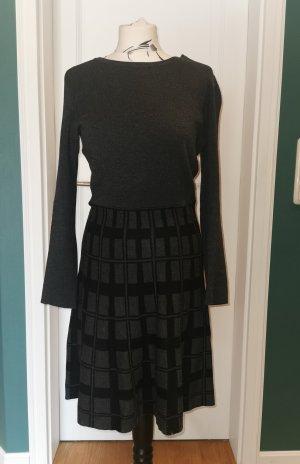 Cynthia Rowley Abito di maglia nero-antracite Cotone