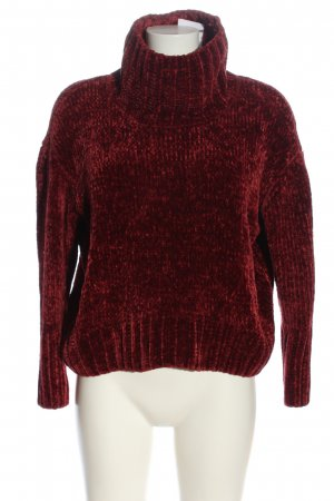 Cynthia Rowley Coarse Knitted Sweater red casual look