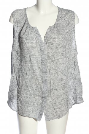 Cynthia Rowley Shirt Blouse white-light grey abstract pattern casual look