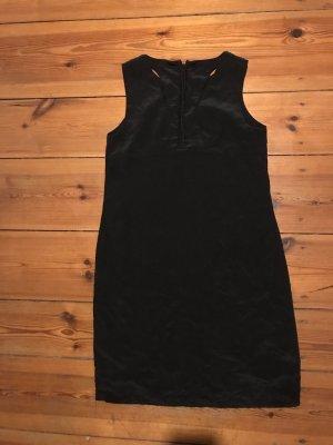 Cynthia Rowley: Kurzes Schwarzes Kleid, schlicht, 100% Seide, knielang, Gr. s/ xs/ 34