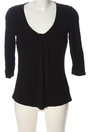 Cynthia Rowley Long Sleeve Blouse black casual look