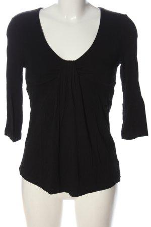 Cynthia Rowley Long Sleeve Blouse black elegant